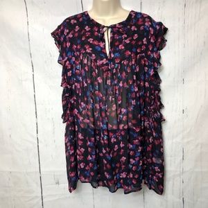Lucky Brand Womens Blouse Plus Size 3X NWT